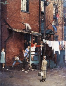 """The Homecoming"" by Norman Rockwell (1945)"