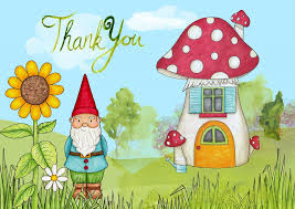 I like this thank you because we have gnomes all around our house.